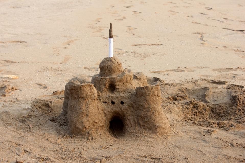 Sandcastle on Velneshwar Beach