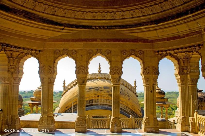 Terrace of Vijay Vilas Palace