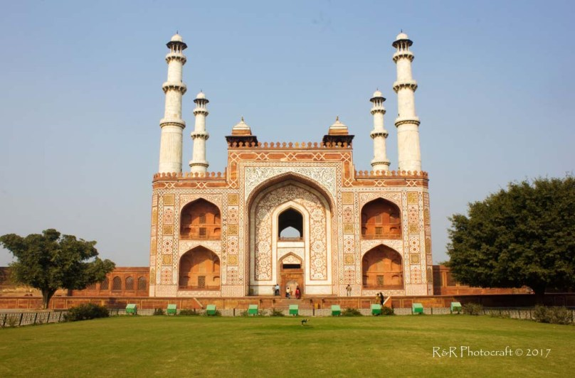Grand entrance of Akbar's Tomb, Sikandara