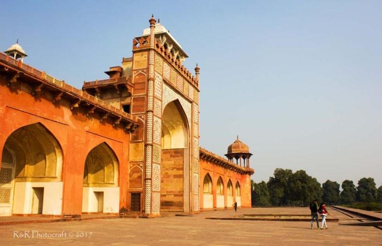 Diagonal view of Akbar's Tomb
