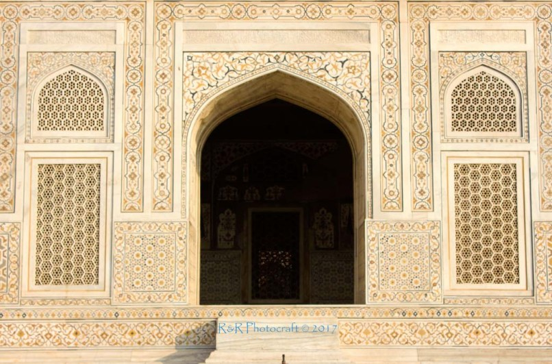 Intricate Pietra-Dura inlay on white marble