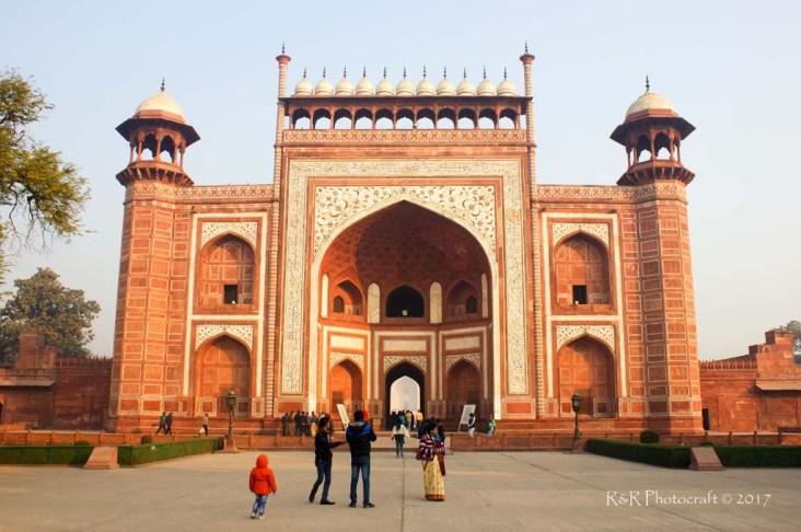 Ornamented Main Gate of the Taj Mahal