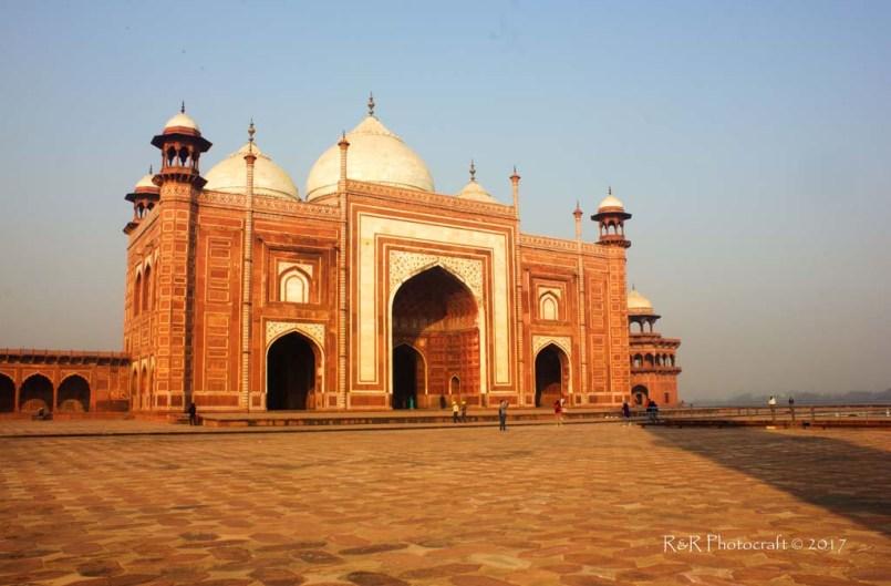 Mosque inside the Taj Mahal complex