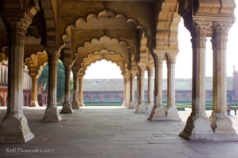 Arches of the royal court, Diwan-e-Aam, Agra Fort