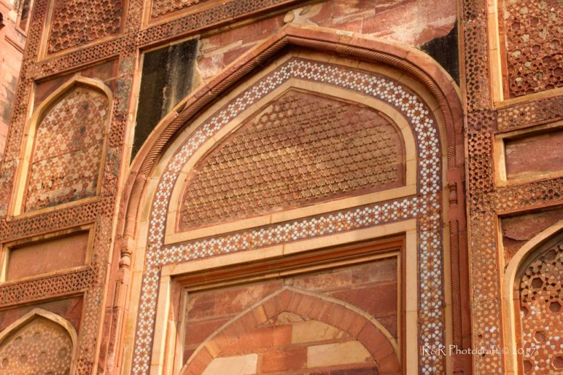 Intricate Ornamentation in Red Sandstone