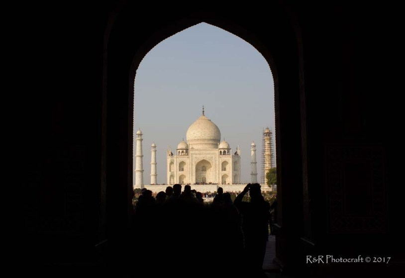 Taj Mahal .. through the grand arched entrance