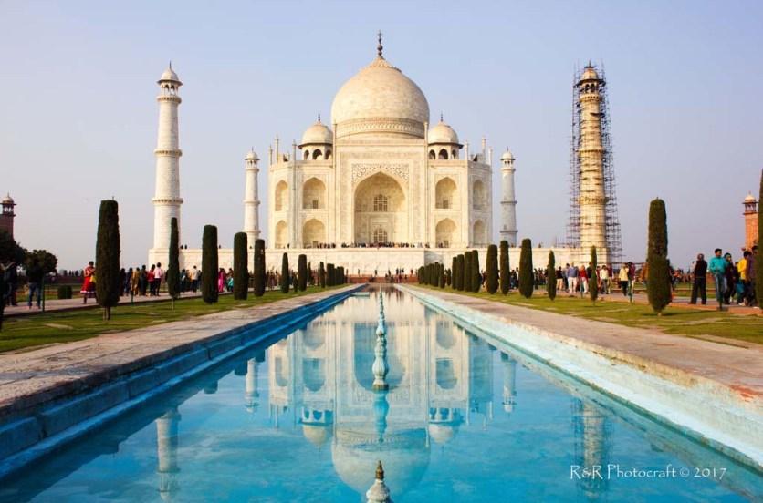 Marvel of symmetry .... the Taj Mahal